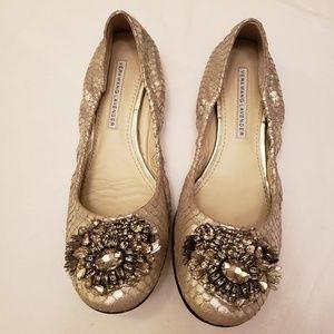 Vera Wang Lavender silver Boa ballet